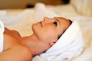 woman preparing for dermabrasion